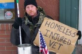 Homeless injured vet